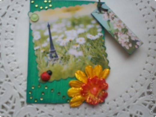 """АТС-игра Олисандры. Тема """"Влюбленный в Париж"""". Эта карточка, одна из двух, осталась у меня. фото 2"""