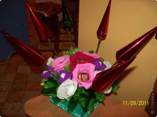Букет из конфет,сделан на день рождения крестнице. фото 2