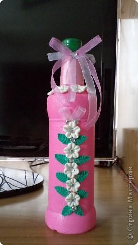 Попросили украсить на презент 40 градусную бутылочку. фото 1