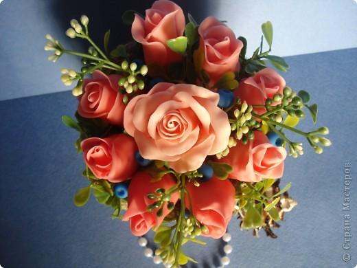 корзина роз фото 3