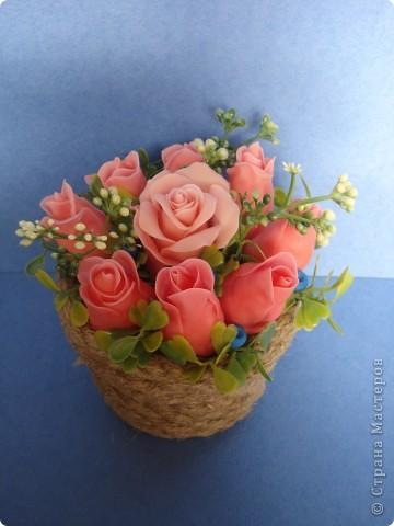 корзина роз фото 2
