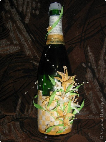 Мама попросила сделать ее подруге бутылку на день рождение.... и конечно это было в последний день. Но я думаю ночь прошла не зря..)))) фото 1