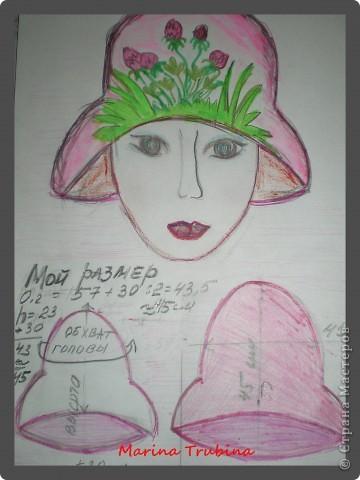 Нарисуем эскиз нашей банной шапки и определим размеры. фото 1