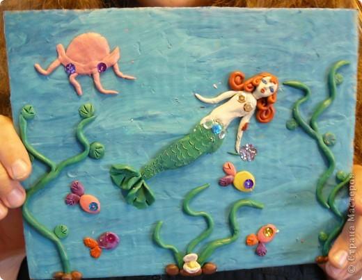 Вот наши работы из пластилина.Лепили ребята с большим удовольствием и выдумкой.Все работы получились разные и интересные. фото 6