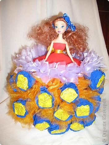 Вот и я не удержалась и сотворила на ДР племянницы куклу по МК Свет9, за что ей большое спасибо!