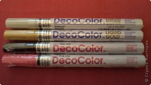 Прислали мне с интернет-магазина японские лаковые маркеры. Блестя-я-я-т отлично! Цвета шикарные. фото 1