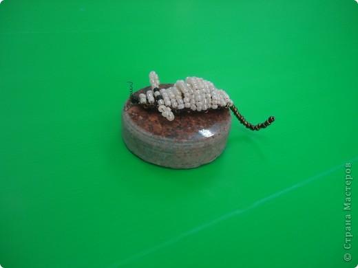 Поделка изделие Бисероплетение Мышонок Бисер фото 2.