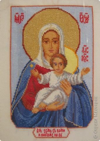Иконы вышитые крестом фото 2