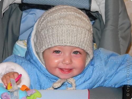 Вязанная шапочка для малыша