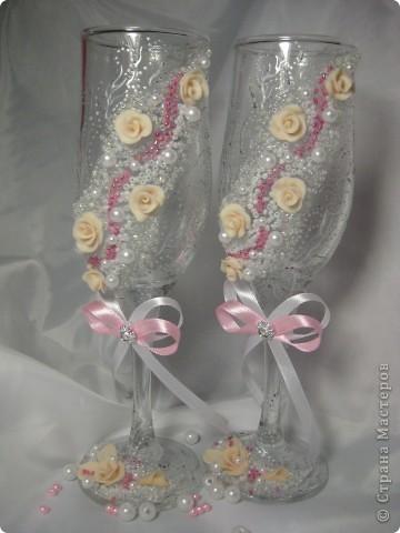 Было сразу два заказа на розовенькие с розами. Эти посветлее,для тех кто любит понежнее... фото 4
