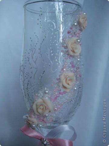 Было сразу два заказа на розовенькие с розами. Эти посветлее,для тех кто любит понежнее... фото 2