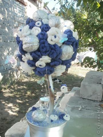 Сине-белое дерево счастья фото 4