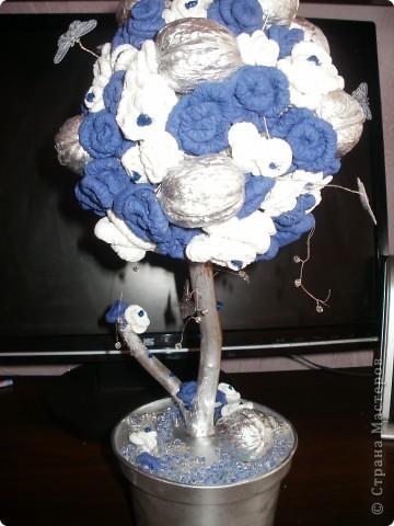 Сине-белое дерево счастья фото 1