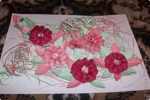 это розовые цветы сделанные по МК Галкиной Инны за что ей большое спасибо! фото 2