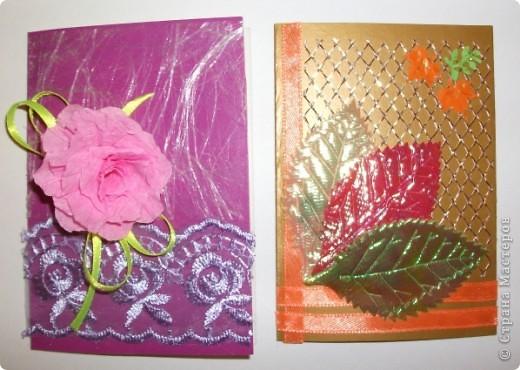 Эти открыточки мы сделали с детьми фото 5