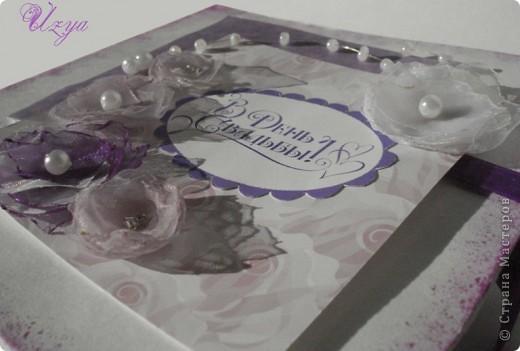 Здравствуйте!) На свадьбу подруги впервые сделала коробочку для денег...вот что получилось) фото 3