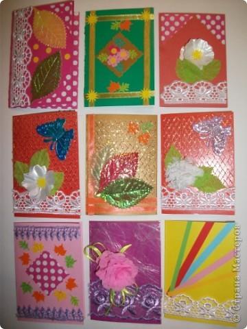 Эти открыточки мы сделали с детьми фото 1