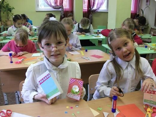 Эти открыточки мы сделали с детьми фото 3