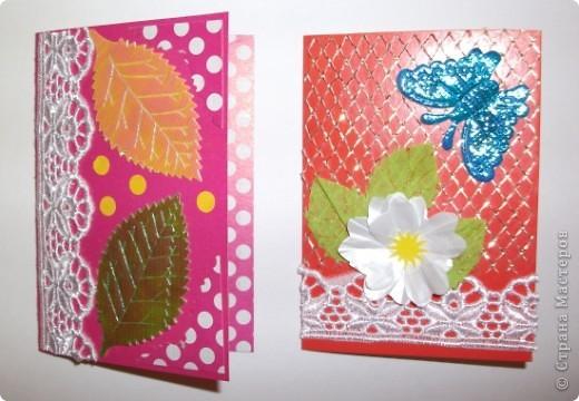 Эти открыточки мы сделали с детьми фото 4