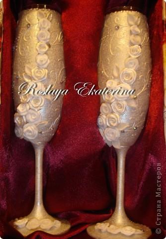 dsc00274 Свадебные бокалы своими руками - фото и способы оформления