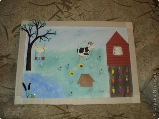 """В детском саду был конкурс """" Как мы провели лето"""" Вот такую картинку мы сделали.  Спасибо за МК Александра - Aliska. фото 4"""