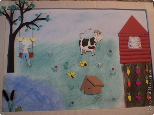 """В детском саду был конкурс """" Как мы провели лето"""" Вот такую картинку мы сделали.  Спасибо за МК Александра - Aliska. фото 1"""