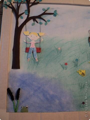 """В детском саду был конкурс """" Как мы провели лето"""" Вот такую картинку мы сделали.  Спасибо за МК Александра - Aliska. фото 2"""