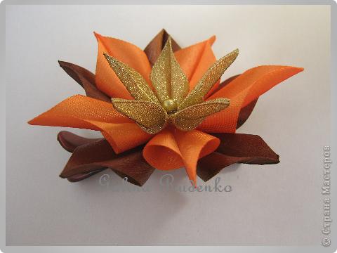 Хотела сделать экзотический цветок, а получился осенний. фото 1