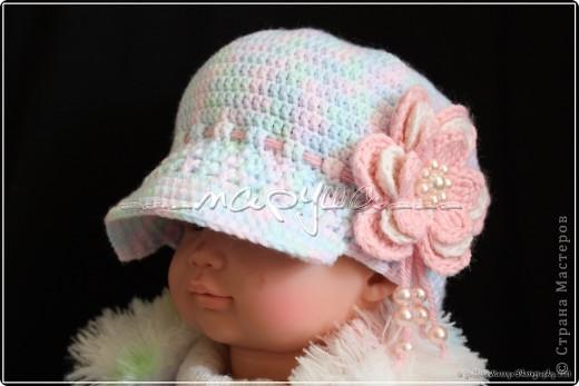 комплект для младшей доченьки (пинетки, кепочка и повязка) фото 2