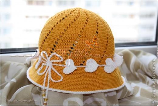 """панамка-шляпка """"Цвет неба"""" для старшей доченьки фото 2"""