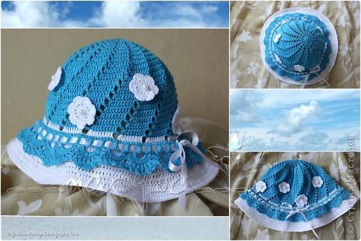 """панамка-шляпка """"Цвет неба"""" для старшей доченьки фото 1"""