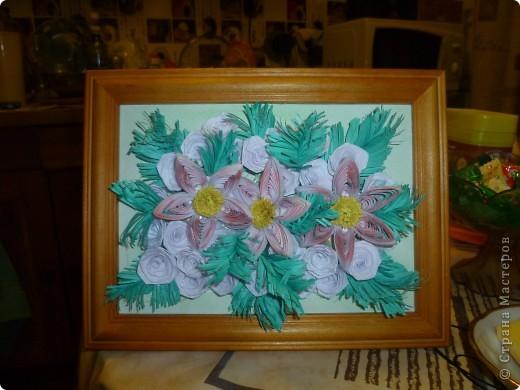 """хотела  создать картину """"розы на еловых ветках"""", но утром надо было чтоб она готова была... вот результат ночной работы. фото 4"""