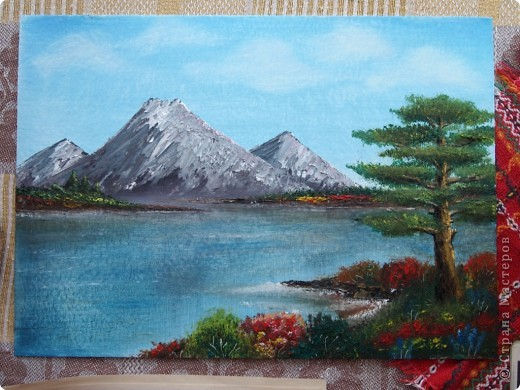 Моя первая картина написанная маслом.  фото 3