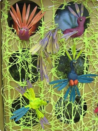 "Итог урока труда в 4 классе.  Тема ""Поделка из пластилина и семян ясеня, клена"" фото 4"