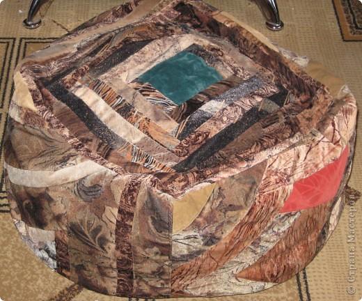 Бескаркасный пуфик-мешок