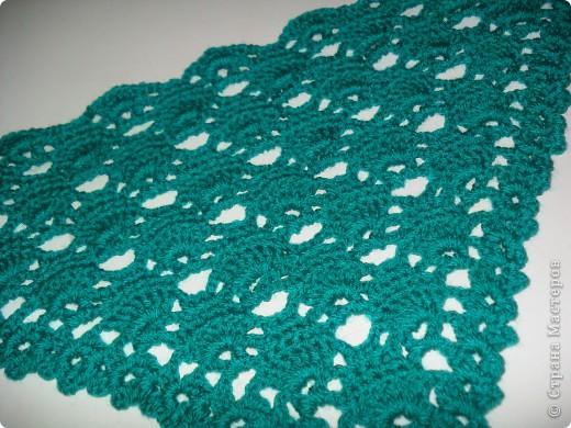 Наконец я довязала свой шарфик. фото 4