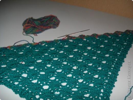Наконец я довязала свой шарфик. фото 5