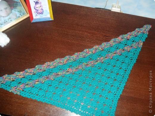 Наконец я довязала свой шарфик. фото 7