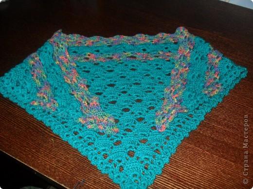 Наконец я довязала свой шарфик. фото 1