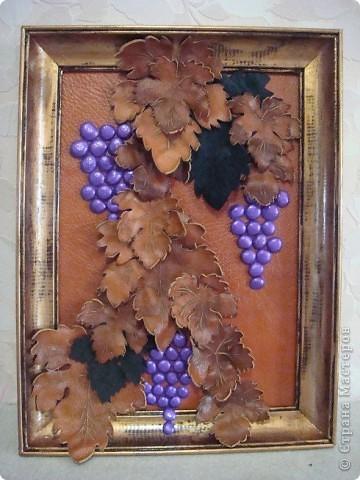 картина из кожи-виноград фото 1