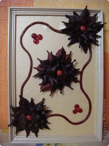 картина из кожи-виноград фото 3