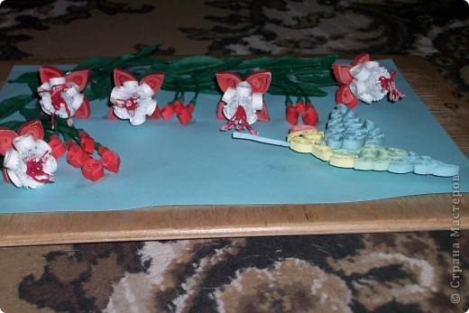 это розовые цветы сделанные по МК Галкиной Инны за что ей большое спасибо! фото 6