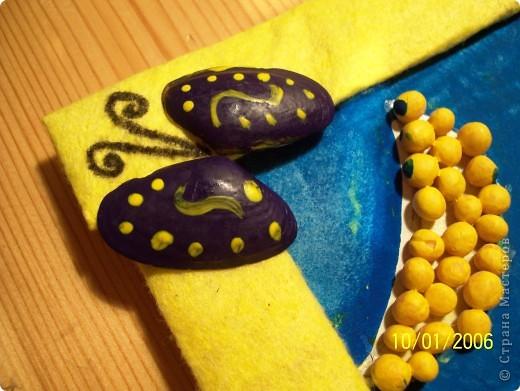 Вот такой мухаморчик у нас получился для выставки в дет.сад. Делали из различных круп и семян, потом раскрасили гуашью. фото 2