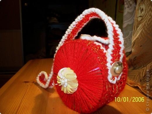 Вот такая сумочка - повторюшечка у меня получилась за вечер фото 2