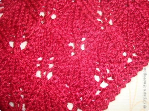 Вот такой бактус получился у меня, вязала по схеме www.ravelry.com/patterns/library/haruni размер 66 см на 36 см фото 3