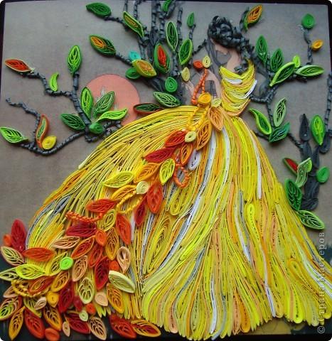 Девушка-осень плетёт кружева фото 1