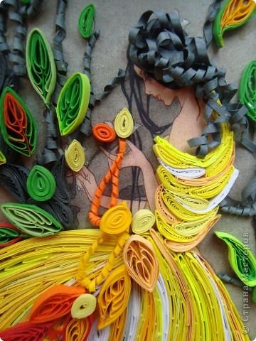 Девушка-осень плетёт кружева фото 2