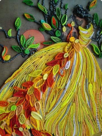 Девушка-осень плетёт кружева фото 5