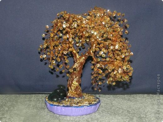 Дерево из бисера и пайеток своими руками 71