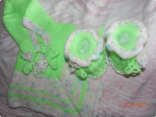 Кардиган и носочки на моей дочке)))) фото 2